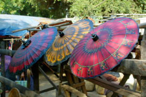 market: traditional paper umbrellas